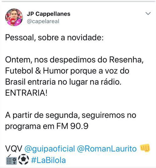 44cf11002961e A Rádio Bandeirantes FM 90.9 de São Paulo vai voltar a transmitir o  programa estatal A Voz do Brasil a partir das 19h.